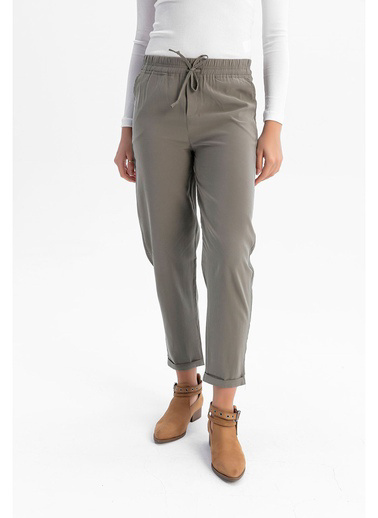 Tiffany&Tomato Yüksek Bel Duble Paça Havuç Pantolon - Tarçın Haki